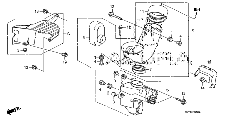 2011 ZDX BASE 5 DOOR 6AT RESONATOR CHAMBER diagram