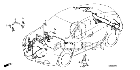 2011 ZDX BASE 5 DOOR 6AT WIRE HARNESS (1) diagram