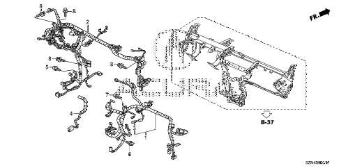 2012 ZDX BASE 5 DOOR 6AT WIRE HARNESS (2) diagram