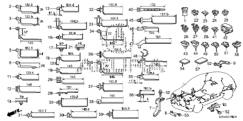 2012 ZDX BASE 5 DOOR 6AT HARNESS BAND - BRACKET diagram