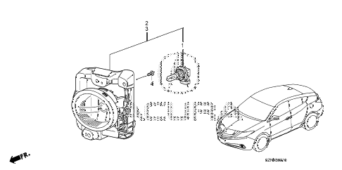 2012 ZDX ADV 5 DOOR 6AT FOGLIGHT diagram