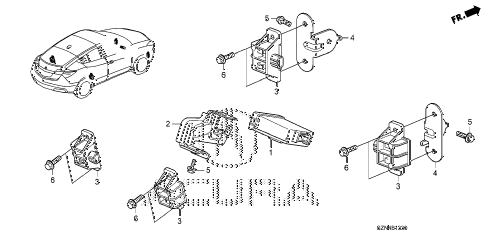 2011 ZDX TECH 5 DOOR 6AT TPMS UNIT diagram