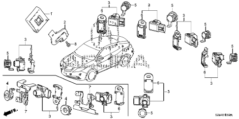 2013 ZDX 5 DOOR 6AT PARKING SENSOR diagram