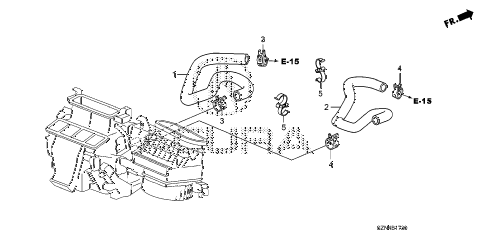 2012 ZDX ADV 5 DOOR 6AT WATER HOSE diagram