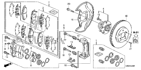 2010 ZDX ADV 5 DOOR 6AT FRONT BRAKE diagram