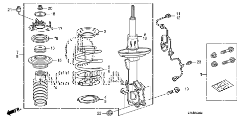 2011 ZDX ADV 5 DOOR 6AT FRONT SHOCK ABSORBER (2) diagram