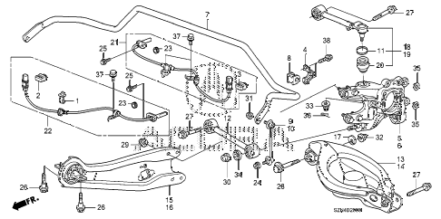 2011 ZDX BASE 5 DOOR 6AT REAR LOWER ARM diagram