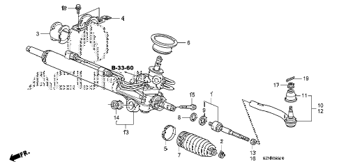 2013 ZDX 5 DOOR 6AT P.S. GEAR BOX (1) diagram