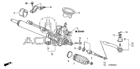 2010 ZDX ADV 5 DOOR 6AT P.S. GEAR BOX (2) diagram