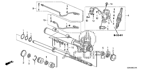 2012 ZDX ADV 5 DOOR 6AT P.S. GEAR BOX COMPONENTS (2) diagram