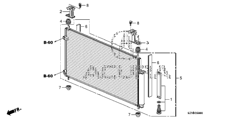 2011 ZDX ADV 5 DOOR 6AT A/C CONDENSER diagram