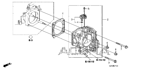 2012 ZDX ADV 5 DOOR 6AT THROTTLE BODY diagram
