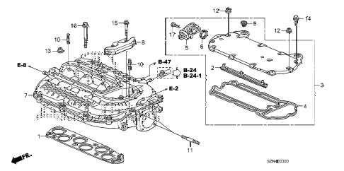 2012 ZDX TECH 5 DOOR 6AT INTAKE MANIFOLD diagram