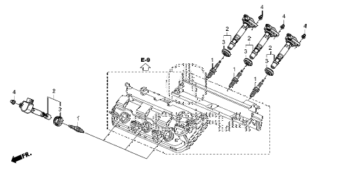 2013 ZDX 5 DOOR 6AT PLUG HOLE COIL - PLUG diagram