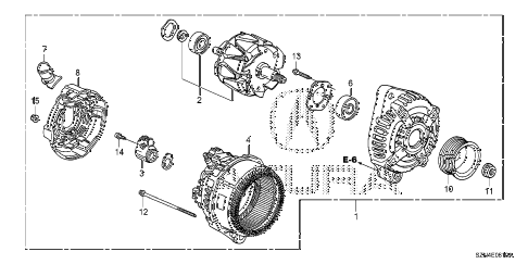 2011 ZDX TECH 5 DOOR 6AT ALTERNATOR (DENSO) diagram