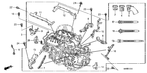 2012 ZDX TECH 5 DOOR 6AT ENGINE WIRE HARNESS diagram