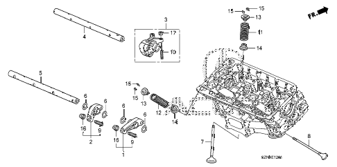 2010 ZDX ADV 5 DOOR 6AT VALVE - ROCKER ARM (RR.) diagram