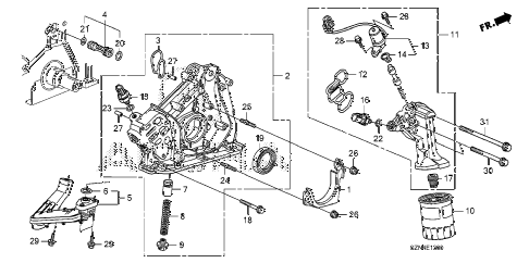 2010 ZDX BASE 5 DOOR 6AT OIL PUMP diagram