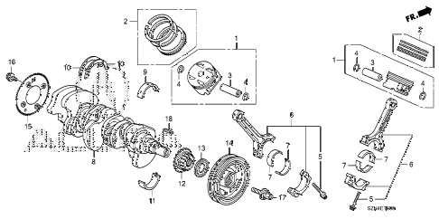 2012 ZDX ADV 5 DOOR 6AT CRANKSHAFT - PISTON diagram