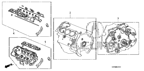 2012 ZDX BASE 5 DOOR 6AT GASKET KIT diagram