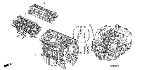 2012 ZDX ADV 5 DOOR 6AT ENGINE ASSY. - TRANSMISSION ASSY. diagram