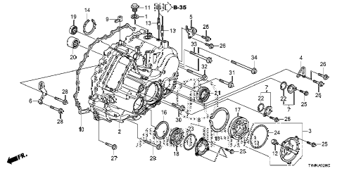 2013 TL ADV(SHAWD) 4 DOOR 6AT AT TRANSMISSION CASE diagram