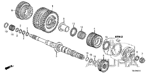 2013 TL ADV 4 DOOR 6AT AT MAINSHAFT - CLUTCH (3RD-6TH) diagram