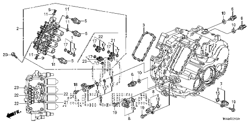 2013 TL ADV 4 DOOR 6AT AT SENSOR - SOLENOID - SECONDARY BODY diagram