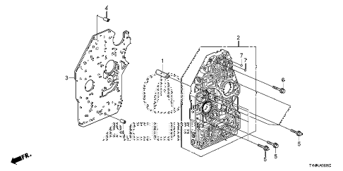 2013 TL ADV 4 DOOR 6AT AT MAIN VALVE BODY diagram