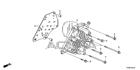 2013 TL ADV(SHAWD) 4 DOOR 6AT AT MANUAL VALVE BODY diagram