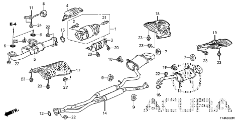 2013 TL ADV(SHAWD) 4 DOOR 6AT EXHAUST PIPE (4WD) diagram