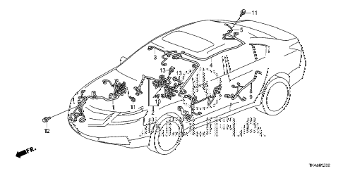 2013 TL ADV(SHAWD) 4 DOOR 6AT WIRE HARNESS (3) diagram