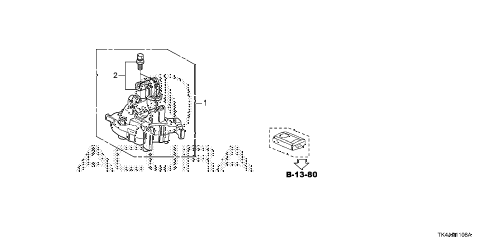 2013 TL ADV(SHAWD) 4 DOOR 6AT KEY CYLINDER COMPONENTS (SMART) diagram