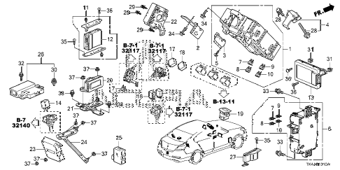 2013 TL ADV 4 DOOR 6AT CONTROL UNIT (CABIN) (1) diagram