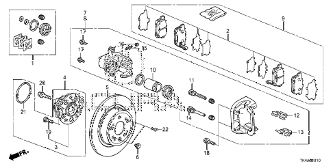 2013 TL ADV(SHAWD) 4 DOOR 6AT REAR BRAKE diagram
