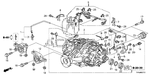 2013 TL ADV(SHAWD) 4 DOOR 6AT REAR DIFFERENTIAL - MOUNT diagram