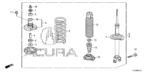 2013 TL ADV(SHAWD) 4 DOOR 6AT REAR SHOCK ABSORBER diagram