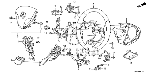 2013 TL ADV(SHAWD) 4 DOOR 6AT STEERING WHEEL (SRS) diagram