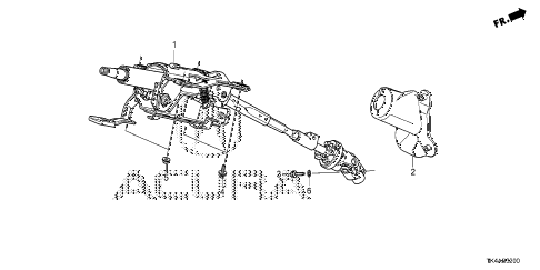 2013 TL ADV(SHAWD) 4 DOOR 6AT STEERING COLUMN diagram
