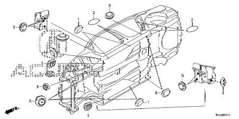 2013 TL ADV 4 DOOR 6AT GROMMET (LOWER) diagram