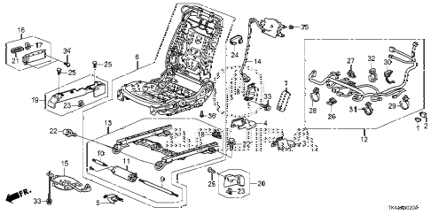 2013 TL ADV(SHAWD) 4 DOOR 6AT FRONT SEAT COMPONENTS (R.) diagram