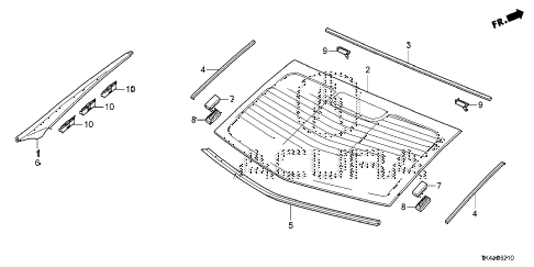 2013 TL ADV 4 DOOR 6AT REAR WINDSHIELD diagram
