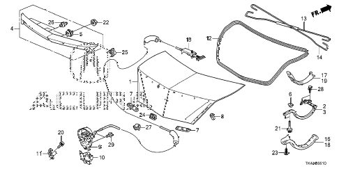 2013 TL ADV 4 DOOR 6AT TRUNK LID diagram