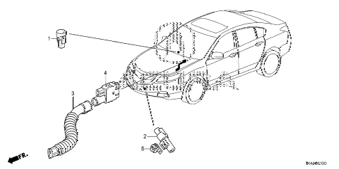 2013 TL ADV(SHAWD) 4 DOOR 6AT A/C SENSOR diagram