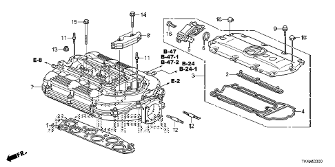 2013 TL ADV 4 DOOR 6AT INTAKE MANIFOLD diagram