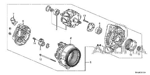 2013 TL ADV(SHAWD) 4 DOOR 6AT ALTERNATOR (DENSO) diagram