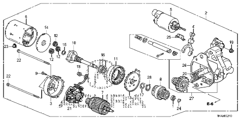 2013 TL ADV 4 DOOR 6AT STARTER MOTOR (DENSO) (AT) diagram
