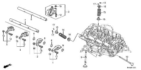 2013 TL ADV(SHAWD) 4 DOOR 6AT VALVE - ROCKER ARM (FR.) diagram
