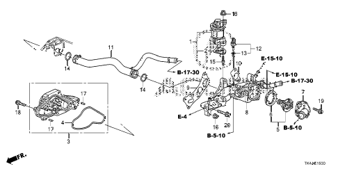 2013 TL ADV(SHAWD) 4 DOOR 6AT WATER PUMP diagram