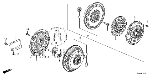 2013 TL ADV 4 DOOR 6AT CLUTCH - TORQUE CONVERTER diagram